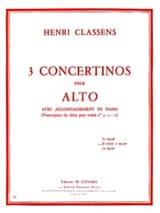 Henri Classens - Concertino n° 2 ré majeur et mineur – Alto - Partition - di-arezzo.fr