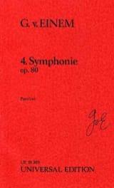 Gottfried von Einem - Symphonie n° 4, op. 80 (1986) - Partition - di-arezzo.fr
