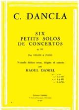 Charles Dancla - Petit solo de concerto op. 141 n° 4 en Ré mineur - Partition - di-arezzo.fr