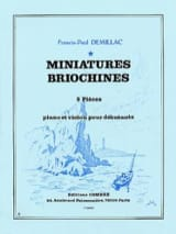 Francis-Paul Demillac - Miniatures Briochines - Sheet Music - di-arezzo.co.uk
