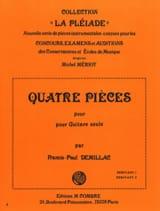 4 Pièces Francis-Paul Demillac Partition Guitare - laflutedepan.com