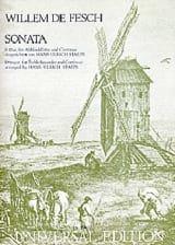 Sonata B-Dur Willem de Fesch Partition Flûte à bec - laflutedepan.com
