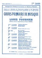 Louis Fournier - Cours primaire de musique n° 1 - Partition - di-arezzo.fr