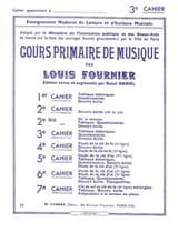 Louis Fournier - Cours primaire de musique n° 3 - Partition - di-arezzo.fr
