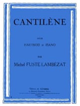 Cantilène Michel Fusté-Lambezat Partition Hautbois - laflutedepan.com