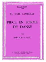 Pièce en Forme de danse Michel Fusté-Lambezat laflutedepan.com