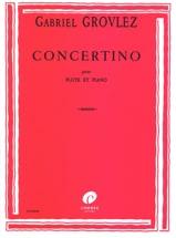 Concertino - Flûte Gabriel Grovlez Partition laflutedepan.com