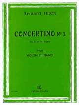 J. Armand Heck - Concertino n ° 3 op. 33 in D major - Sheet Music - di-arezzo.co.uk