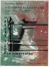 Claude-Henry Joubert - 34 Etudes pour la Flute à Bec - Volume 1 - 1 à 17 - Partition - di-arezzo.fr