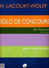 Solo de Concours H. Lacourt-Wolff Partition Violon - laflutedepan.com