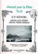 Arien Aus Opern HAENDEL Partition Flûte traversière - laflutedepan.com