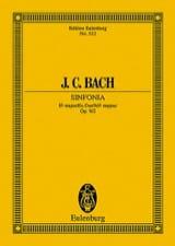 Johann Christian Bach - Sinfonia Es-Dur, Op. 9/2 - Partition - di-arezzo.fr
