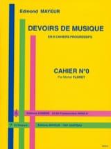 Edmond Mayeur - Devoirs de musique n° 0 - Partition - di-arezzo.fr