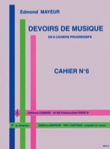 Edmond Mayeur - Duties of music n ° 6 - Sheet Music - di-arezzo.com
