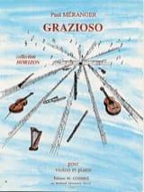 Grazioso - Paul Méranger - Partition - Violon - laflutedepan.com