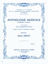 Michel Meriot - Anthologie musicale - Volume 3 - Partition - di-arezzo.fr