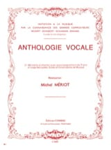Michel Meriot - Anthologie vocale – 21 Mélodies à chanter - Partition - di-arezzo.fr