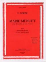 Emmanuel Nerini - Marie-Menuet - Partition - di-arezzo.fr