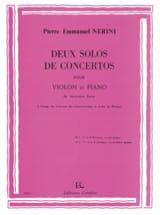 2 Solos de Concertos Pierre-Emmanuel Nerini Partition laflutedepan.com