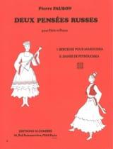 Pierre Paubon - 2 Pensées Russes - Flute et Piano - Partition - di-arezzo.fr