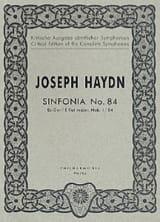 Symphonie Nr. 84 Es-Dur Hob. 1 : 84 - Partitur HAYDN laflutedepan.com
