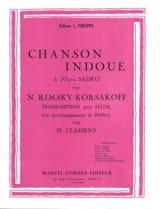 Chanson indoue Nicolaï Rimsky-Korsakov Partition laflutedepan.com