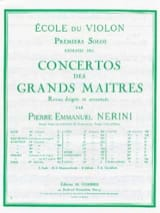 Rode Pierre / Nerini Emmanuel - 1er Solo du Concerto n° 8 op. 13 - Partition - di-arezzo.fr