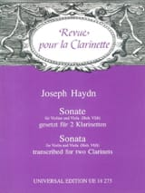 HAYDN - Sonate Hob. 6/6 - 2 Klarinetten - Partition - di-arezzo.fr