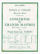Viotti Giovanni Battista / Nerini Pierre Emmanuel - 1er solo du Concerto n° 20 Nerini - Partition - di-arezzo.fr