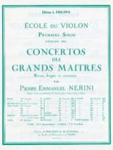 Viotti Giovanni Battista / Nerini Pierre Emmanuel - 1er Solo du Concerto n° 22 Nerini - Partition - di-arezzo.fr