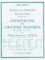 1er Solo du Concerto n° 22 Nerini) laflutedepan.com