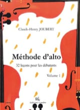 Méthode d'Alto Volume 1 - Claude-Henry Joubert - laflutedepan.com