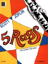 Scott Joplin - 5 Rags for Clarinet and piano - Partition - di-arezzo.fr
