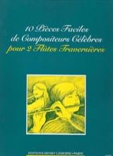 10 Pièces faciles de compositeurs célèbres – 2 Flûtes - laflutedepan.com