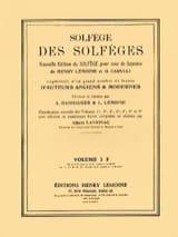 Albert Lavignac - Volume 3F - A/A – Solfège des Solfèges - Partition - di-arezzo.fr
