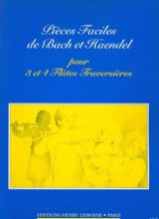 HAENDEL - Pièces faciles - 3 et 4 Flûtes - Partition - di-arezzo.fr