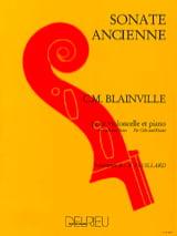 Sonate ancienne Charles-Henri de Blainville Partition laflutedepan.com