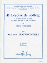 40 Leçons 2 Clés – Volume 2 S/A Armand Bournonville laflutedepan.com