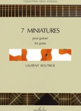 7 Miniatures - Laurent Boutros - Partition - laflutedepan.com