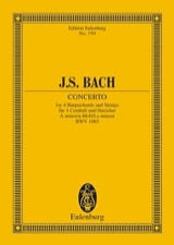 Konzert a-moll, BWV 1065 BACH Partition laflutedepan.com