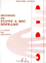 Méthode de Flûte à Bec soprano Jean-Noël Catrice laflutedepan.com
