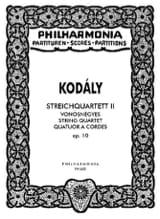 Zoltán Kodály - Quatuor à cordes n° 2 op. 10 - Conducteur - Partition - di-arezzo.fr