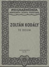 Zoltan Kodaly - Te Deum – Partitur - Partition - di-arezzo.fr
