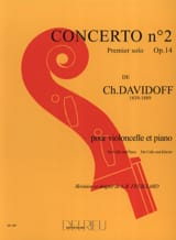 Charles Davidoff - Concerto No. 2 op. 14 in A minor 1st solo) - Sheet Music - di-arezzo.com