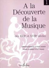 Yves Didier - Discovering ... Volume 1 - Clarinet - Sheet Music - di-arezzo.co.uk