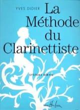 La méthode du clarinettiste - Yves Didier - laflutedepan.com