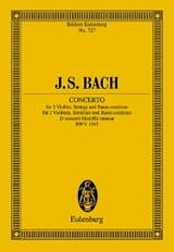 Konzert D-Moll, BWV 1043 BACH Partition laflutedepan.com
