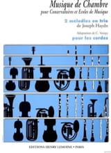 HAYDN - 2 Trio Melodies - Strings - Sheet Music - di-arezzo.com
