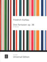 3 Fantaisies Opus 38 - Flûte solo Friedrich Kuhlau laflutedepan.com