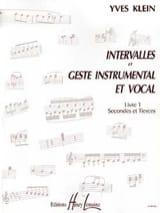Yves Klein - Intervalles et geste ... – Livre 1 - Partition - di-arezzo.fr